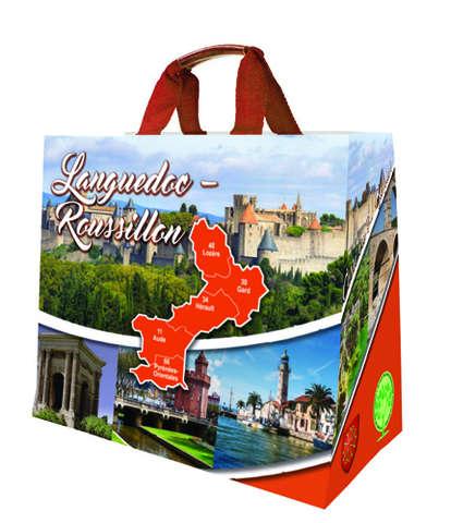 Shopper Einkaufstasche 33L PP bedruckt 'Occitanie' : Ladentaschen einkaufstaschen modetaschen