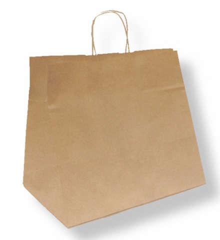 Krafttasche m. breitem Boden für Kuchen und Menüschalen : Ladentaschen einkaufstaschen