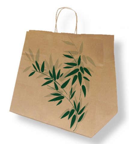 Krafttasche m. breitem Boden für Kuchen und Menüschalen : Ladentaschen einkaufstaschen modetaschen