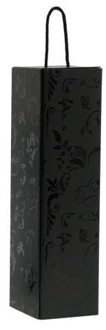 Flaschenkarton schwarz 1-Flasche Magnum : Verpackung fur flaschen und regionalprodukte
