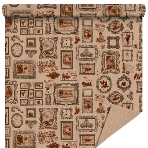 Rolle Geschenkpapier Kraft 'Vintage' : Verpackungzubehör