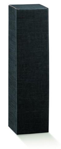 Flaschenkarton Sekt 1-Flasche schwarz 'Milano', stehend : Verpackung fur flaschen und regionalprodukte