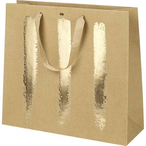 Geschenktasche gold m. Tragebändern : Ladentaschen einkaufstaschen modetaschen