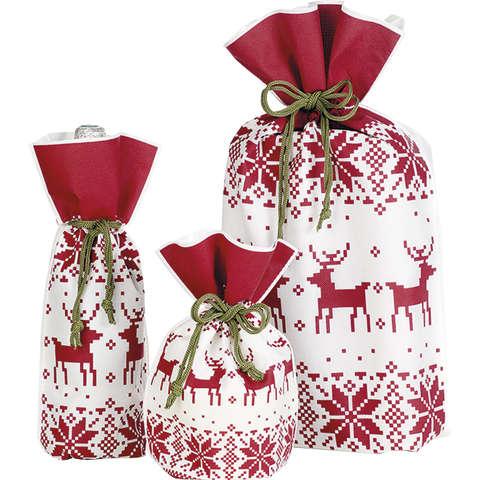 Geschenk-Säckchen rot/weiß 'Norwegen' : Verpackung für bäkerei konditorei