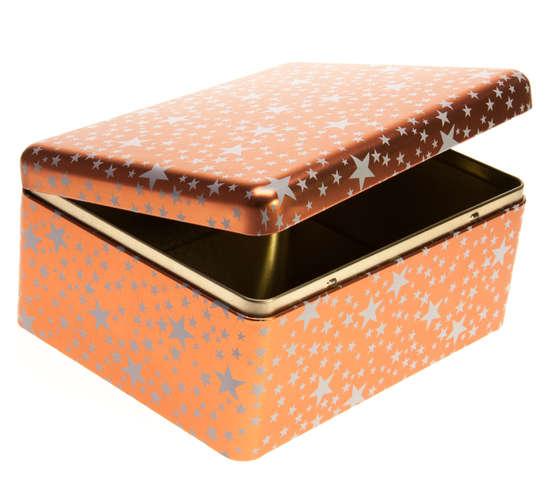 Metallbox 4-eckig ELEGANZ : Geschenkschachtel präsentbox