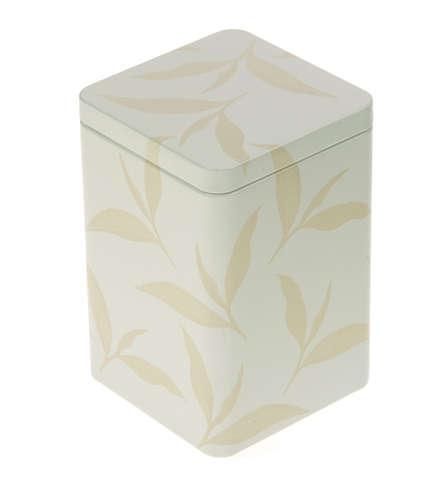 Metallbox für Tee 'TEEBLATT' : Geschenkschachtel präsentbox