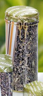 Metallbox rund 'TEATIME' für Tee : Geschenkschachtel präsentbox