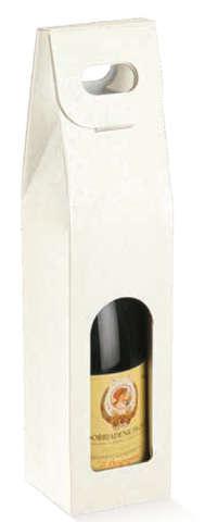 Geschenkkarton 1-Flasche m. Fenster : Verpackung fur flaschen und regionalprodukte