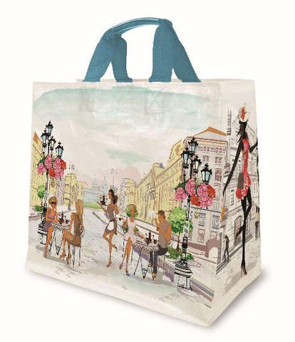 Shopper PP 30L. 'Aquarell' : Ladentaschen einkaufstaschen modetaschen