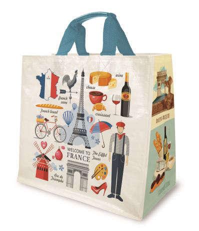 Shopper PP 30L. 'Frankreich' : Ladentaschen einkaufstaschen modetaschen