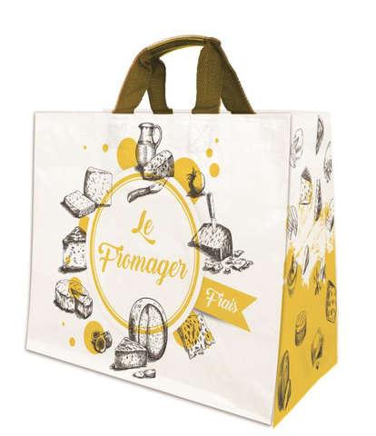 Shopper PP 19L. 'Käseladen' : Ladentaschen einkaufstaschen