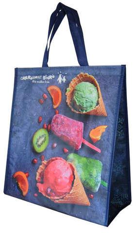 Shopper Isotasche PP 27L. 'Ice Cream' : Ladentaschen einkaufstaschen modetaschen