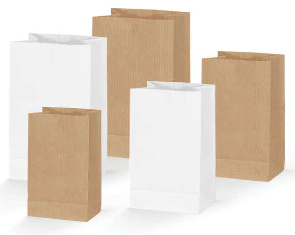 Bodenbeutel Krafttasche naturbraun : Verpackung für bäkerei konditorei