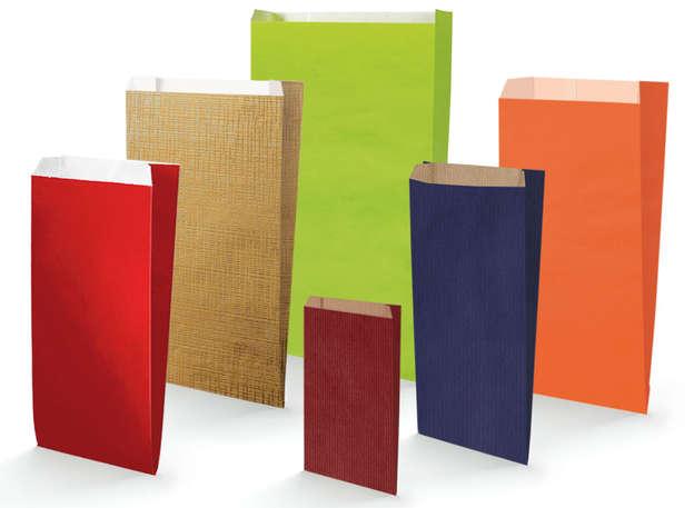 Geschenktasche Kraftpapier bunt : Verpackung für bäkerei konditorei