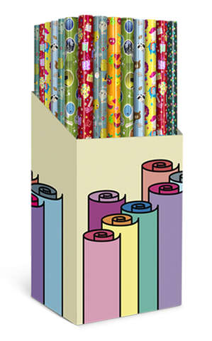 Set Geschenkpapier-Röllchen 60 St. : Verpackungzubehör