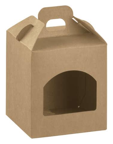 Geschenkschachtel Karton m. Fenster H.10 cm : Verpackung für einmachgläser konfitürenglas preserve