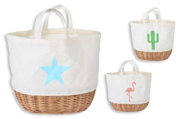 3er- Handtasche Baumwolle Weide : Ladentaschen einkaufstaschen modetaschen