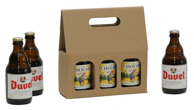 Geschenkkarton 3-Fl. Bier Steinie 33cl : Verpackung fur flaschen und regionalprodukte