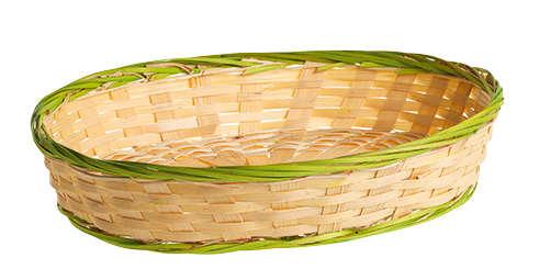 Präsentierungsschale ovale Bambus hell : Korb geschenkkorb präsentierungskorb