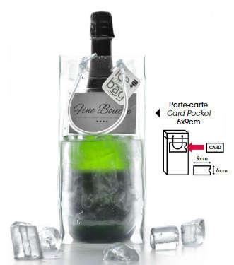 Icebag transparent 'Pro Business' m. Kartenhalter : Verpackung fur flaschen und regionalprodukte