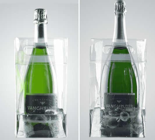 Icebag 'Square' transparent : Verpackung fur flaschen und regionalprodukte