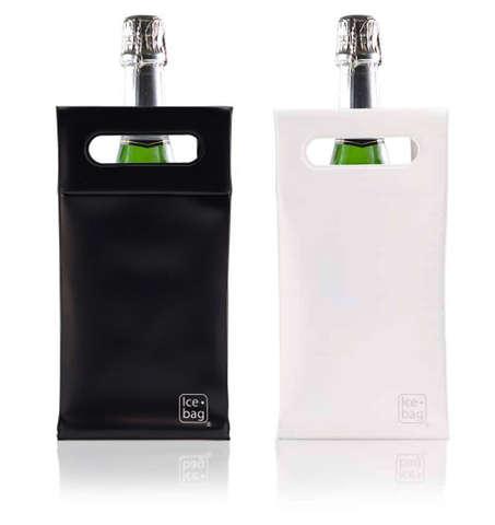 Icebag 'Square' schwarz/ weiß : Verpackung fur flaschen und regionalprodukte