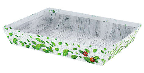 Präsentierungskorb 4eckig Pappe 'Natura' : Korb geschenkkorb präsentierungskorb