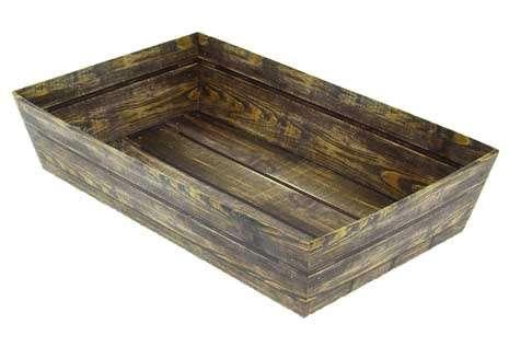 Präsentierungskorb 4eckig Pappe Holzaufdruck : Korb geschenkkorb präsentierungskorb