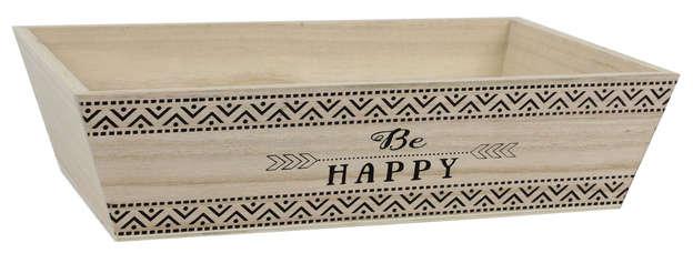 Holzschale BE HAPPY : Korb geschenkkorb