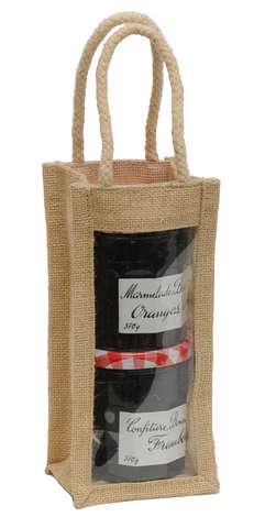 Sac jute 1 bouteille ou pot : Verpackung fur flaschen und regionalprodukte