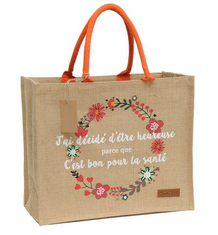 """Sac en toile de jute de luxe marque """"Joan Rich"""" : Ladentaschen einkaufstaschen modetaschen"""