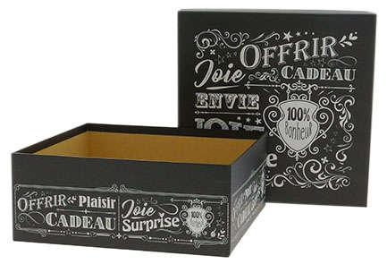 """Boite carrée """"Vintage Noir"""" : Geschenkschachtel präsentbox"""