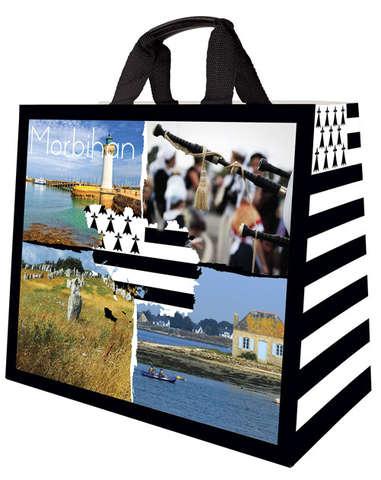 Cabas Polypro 33L Bretagne Morbihan : Ladentaschen einkaufstaschen modetaschen