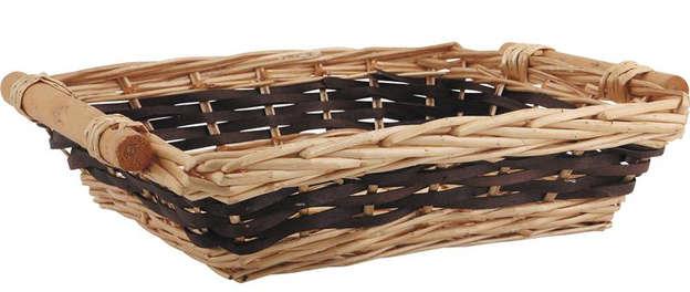 Corbeille osier 46-41x33x10 cm : Korb geschenkkorb präsentierungskorb