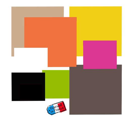 Carré droit couleur double face Color's Collection : Geschenkschachtel präsentbox