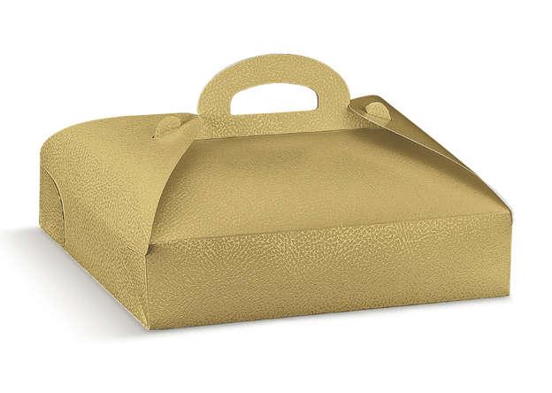 Tortenschachteln Gold m. Griff : Geschenkschachtel präsentbox