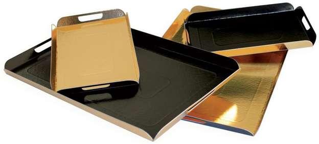 Plateau plié Or/Noir : Tabletts und servierplatten
