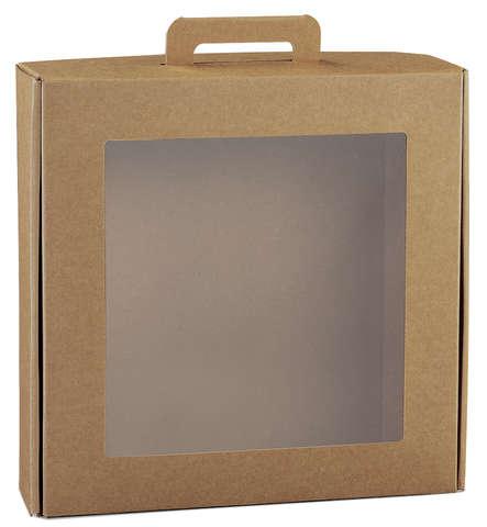 Geschenkschachtel Pappe m. Fenster Ökomaterial 'Gourmet' : Geschenkschachtel präsentbox