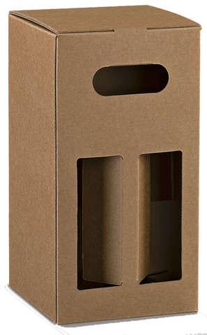 Bierkarton 4-Flaschen kubik 'PUB' : Verpackung fur flaschen und regionalprodukte