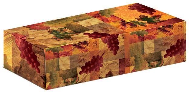 Geschenkschachtel Pappe 1/2/3-Fl. bedruckt 'Weinstock' : Verpackung fur flaschen und regionalprodukte