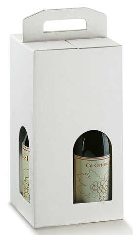 Carton économique blanc 4 bouteilles : Verpackung fur flaschen und regionalprodukte
