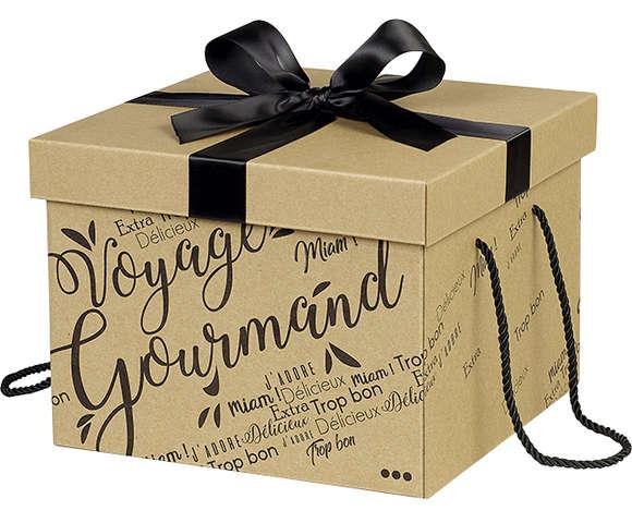 Boîte cadeau en carton : Geschenkschachtel präsentbox