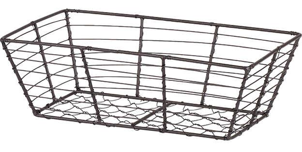 Corbeille métal rectangle effet vieilli : Korb geschenkkorb präsentierungskorb