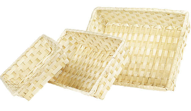 Corbeille bambou nature : Korb geschenkkorb präsentierungskorb
