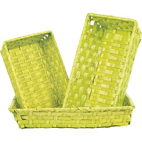 Corbeille bambou vert anis : Korb geschenkkorb präsentierungskorb