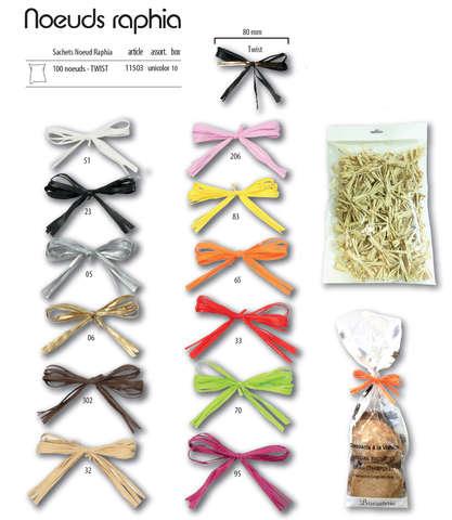 100 Nœuds raphia Twist : Verpackungzubehör