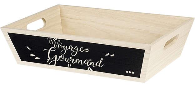 Corbeille Bois Voyage Gourmand : Korb geschenkkorb präsentierungskorb