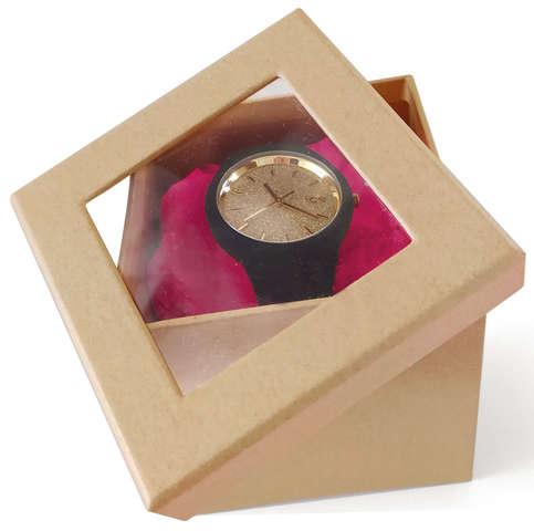 Boite Pandore - Fenêtre couvercle : Geschenkschachtel präsentbox