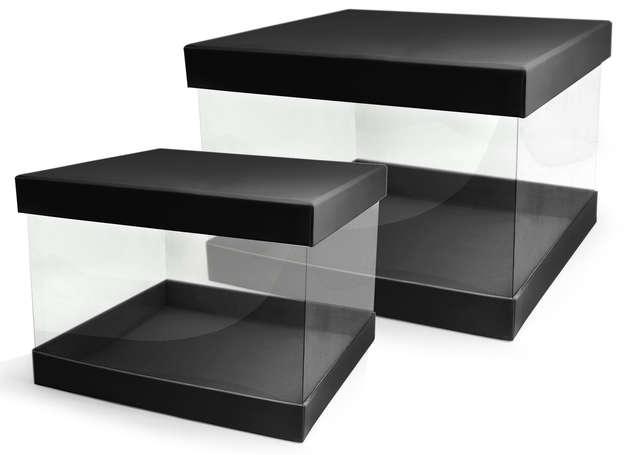 Lot de 2 Boites Pandore Carrée - Transparentes : Geschenkschachtel präsentbox