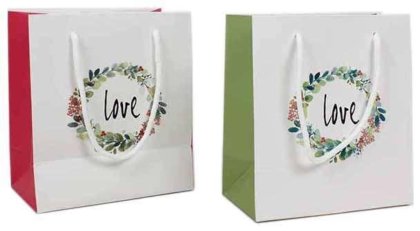 """Sac kraft """"Love"""" : Ladentaschen einkaufstaschen"""